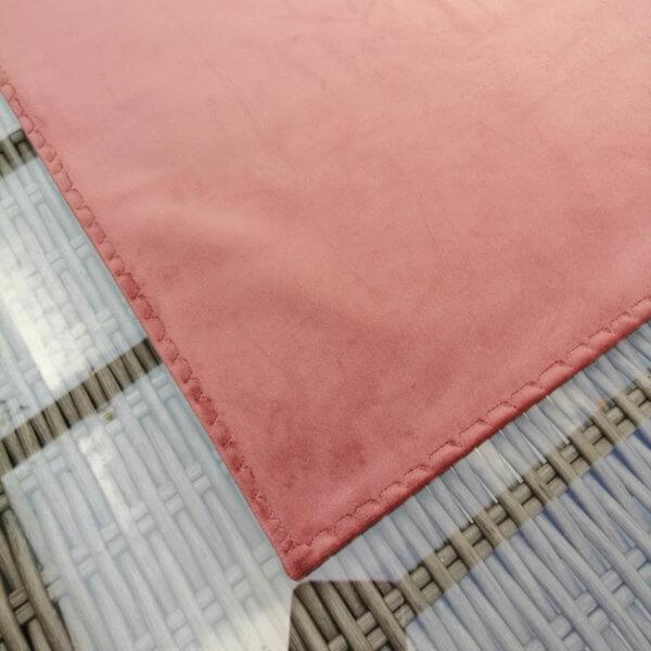 Samt Tischläufer rosa