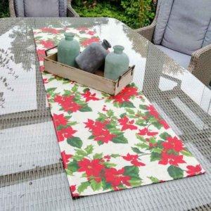 Tischläufer Weihnachtsstern (beschichtet)