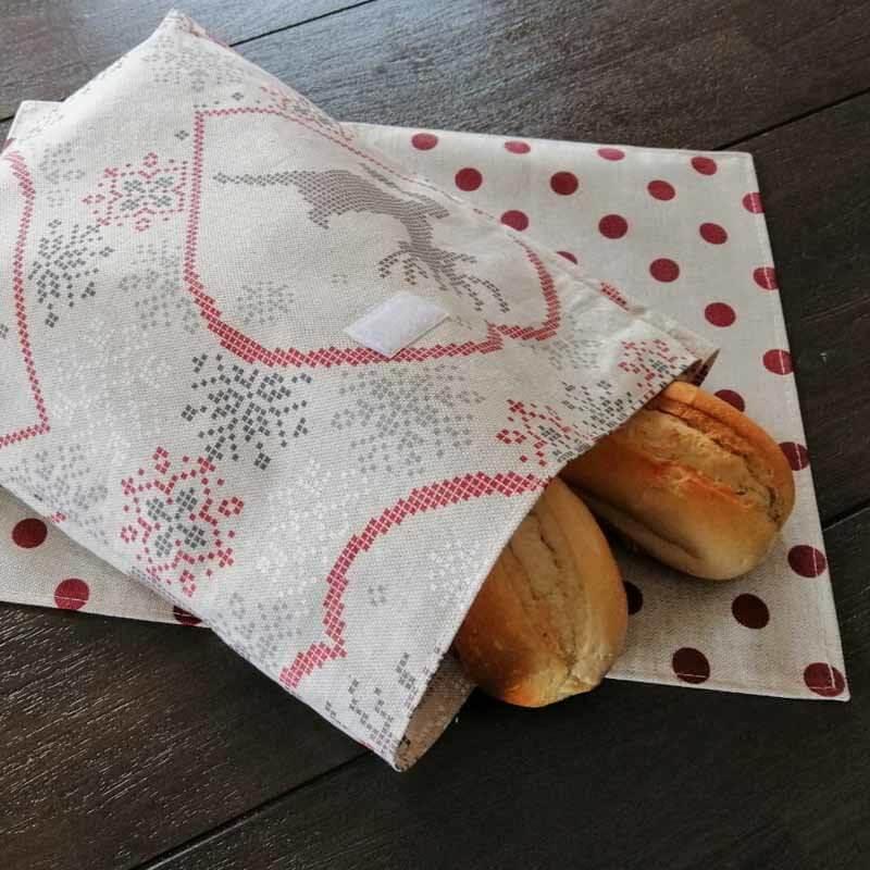 Weihnachtsgeschenke für Freundinnen selber machen - Brötchenbeutel nachhaltig