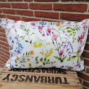 Wachstuchkissen / Outdoor Kissen Blumen 40x60cm