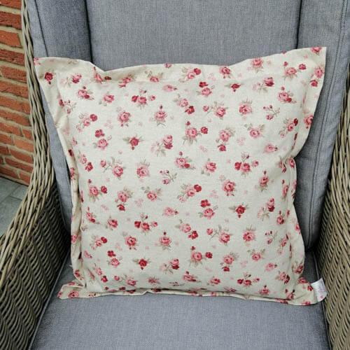 Bodenkissen bunt mit rosa Rosen (beschichtet)