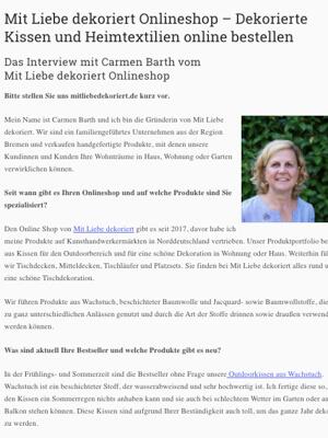 Interview mit Mit Liebe dekoriert