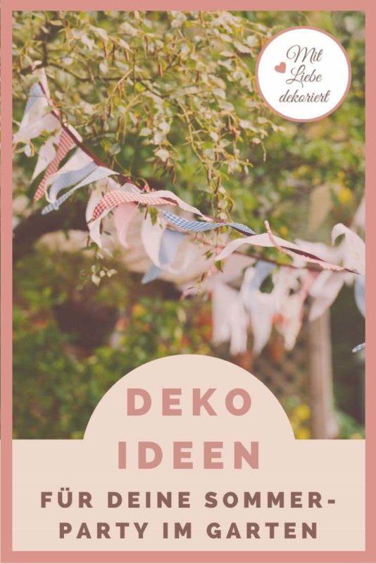 Deko Ideen für Deine Sommerparty im Garten