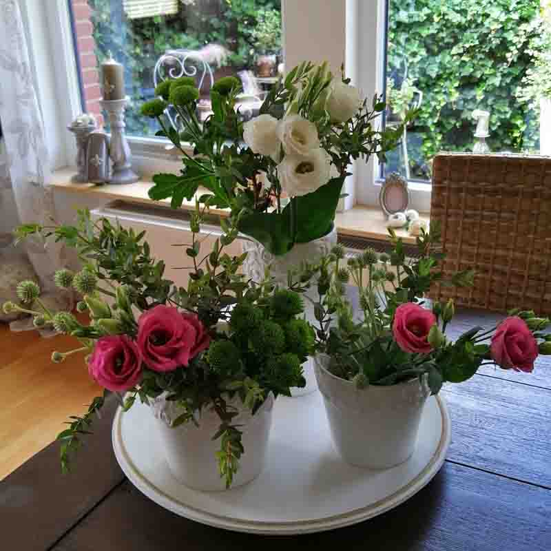 Deko Sommerparty im Garten Vasen