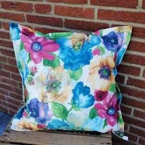 Kissenhülle Bunte Blumen (beschichtet) 50x50cm