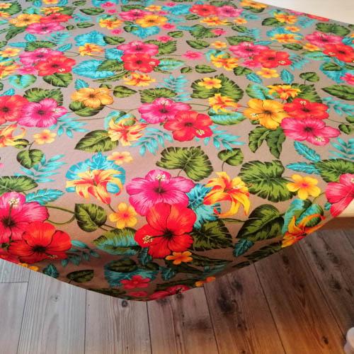 Mitteldecke Hawaii Blumen aus Baumwollmischung