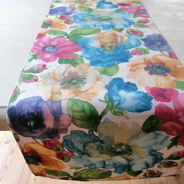 Tischläufer Bunte Blumen