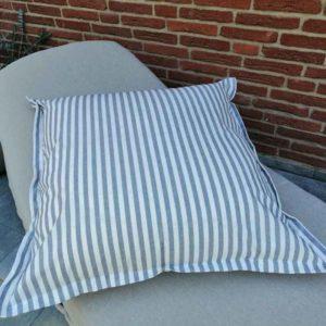 Kissenhülle grau gestreift (beschichtet) 60x60cm