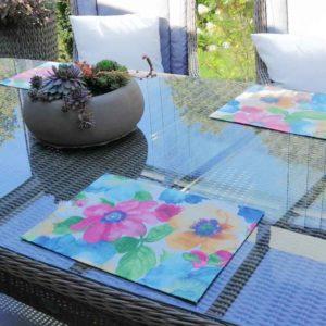 Platzset Bunte Blumen