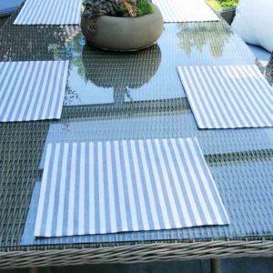 Tischset grau gestreift (beschichtet) 30x40cm