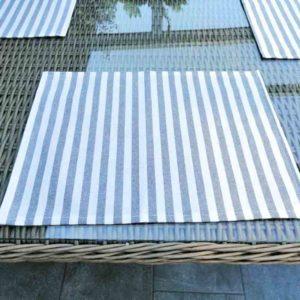 Platzset grau gestreift (beschichtet) 30x40cm
