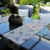 Tischläufer Tasse mit Blumen - Beschichtete Baumwolle
