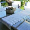 Tischläufer grau gestreift (beschichtet)