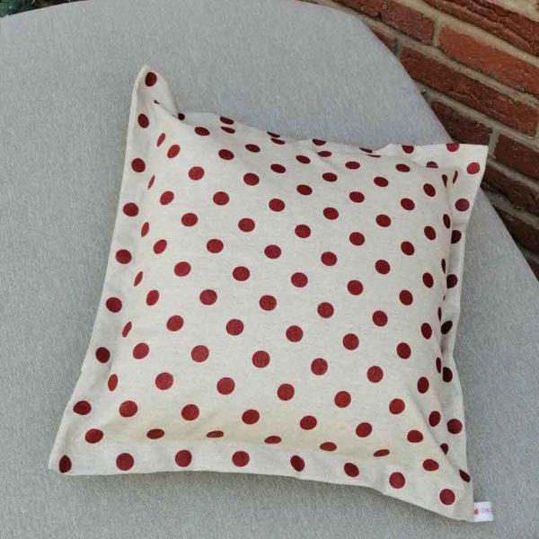Wetterfeste Kissen für den Garten – Punkte rot 40x40cm