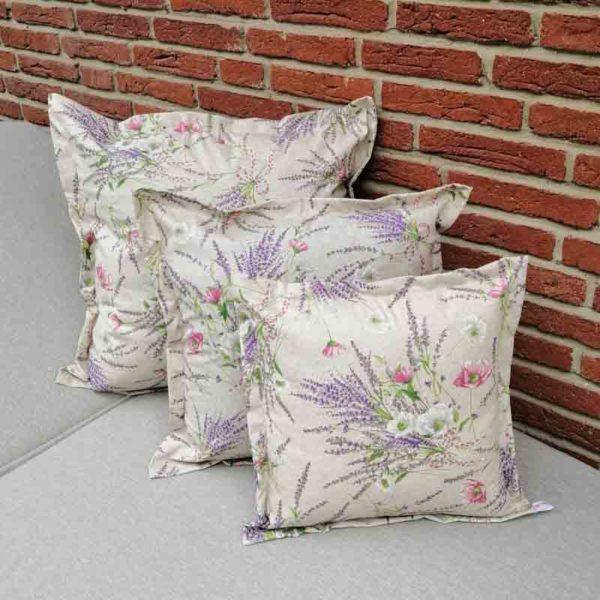 Kissenhülle Lavendel beschichtet für den Garten verschiedene Größen