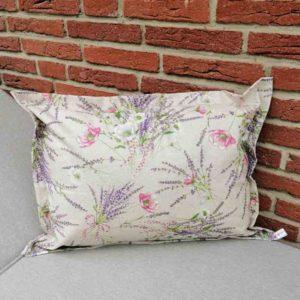 Kissenhülle Lavendel beschichtet für den Garten 40x60cm