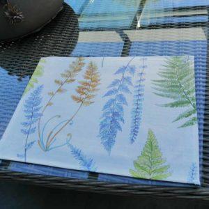 Tischset Farne aus beschichteter Baumwolle
