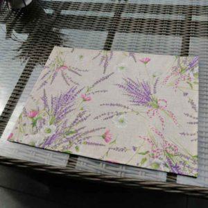 Tischsets Lavendel beschichtet