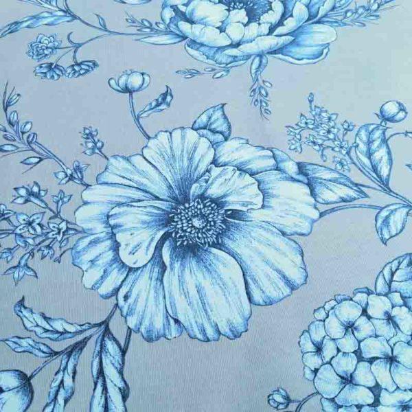 Beige mit blauen Blumen Muster