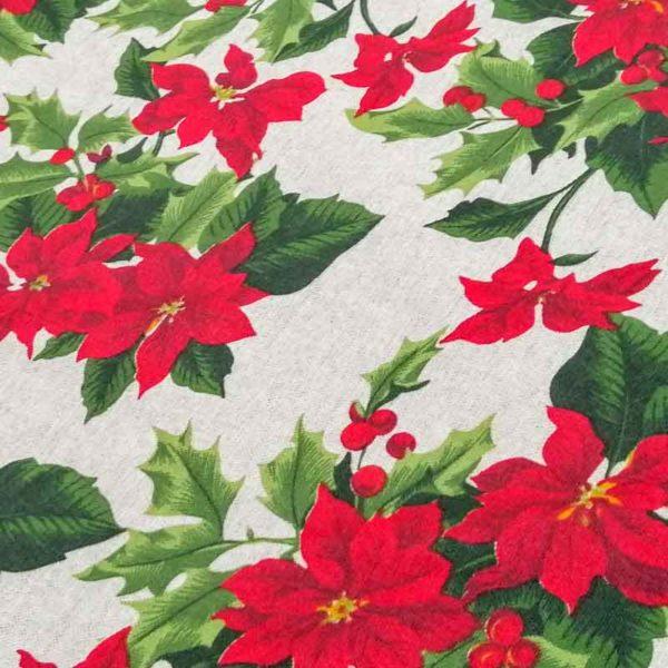 Decke für den Tannenbaum mit Weihnachtsstern (beschichtet)