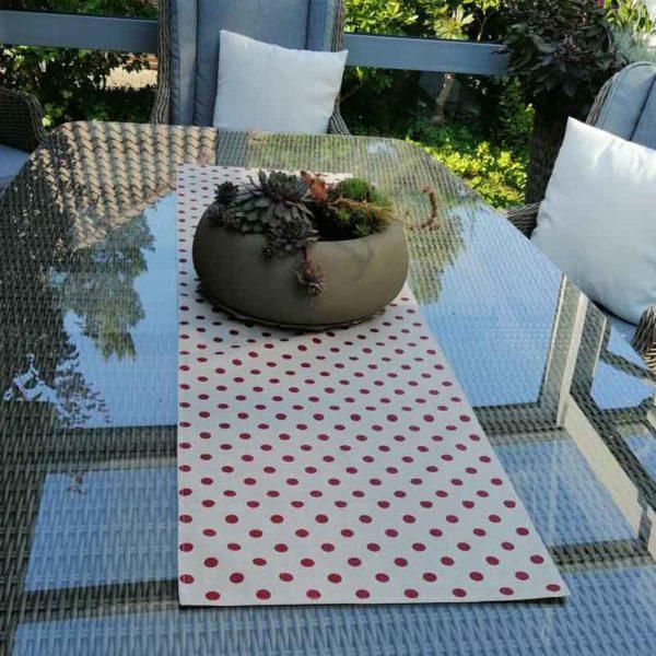 Tischläufer gepunktet Produkte aus beschichteter Baumwolle für Jung und Alt