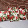 Kissenhülle mit Weihnachtsstern (beschichtet)