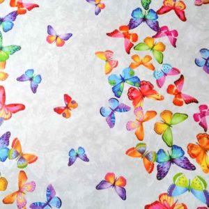 Wachstuch Meterware Schmetterlinge, Vögel, Tiere