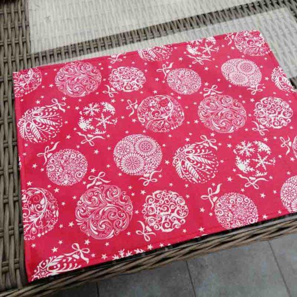 Platzset Weihnachten - Weihnachtskugel (beschichtet)