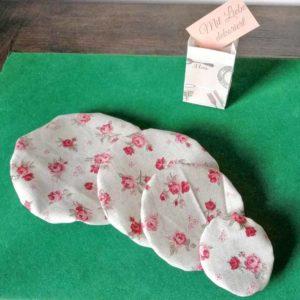 Schüsselhauben Beschichtete Baumwolle Rosa Rosen