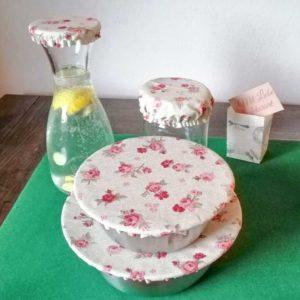 Schüsselhauben Beschichtete Baumwolle Rosen