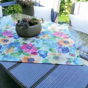 Tischdecke Bunte Blumen (beschichtet)