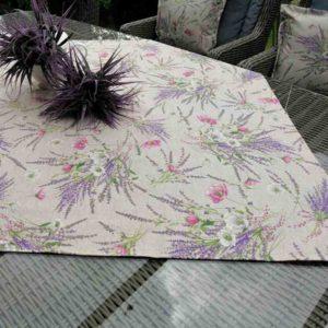Tischdecke Lavendel beschichtet