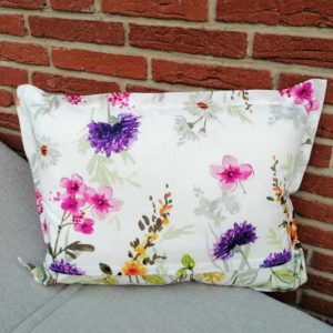 Kissen Blumenwiese für Outdoorbereich 40x60cm