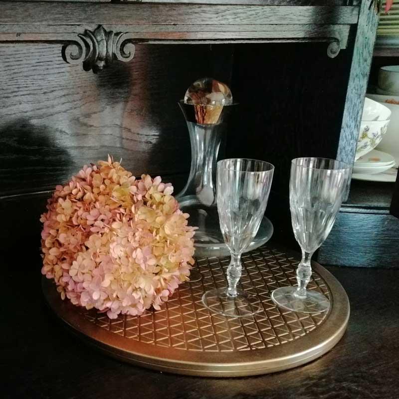 Deko mit Hortensien Gläser