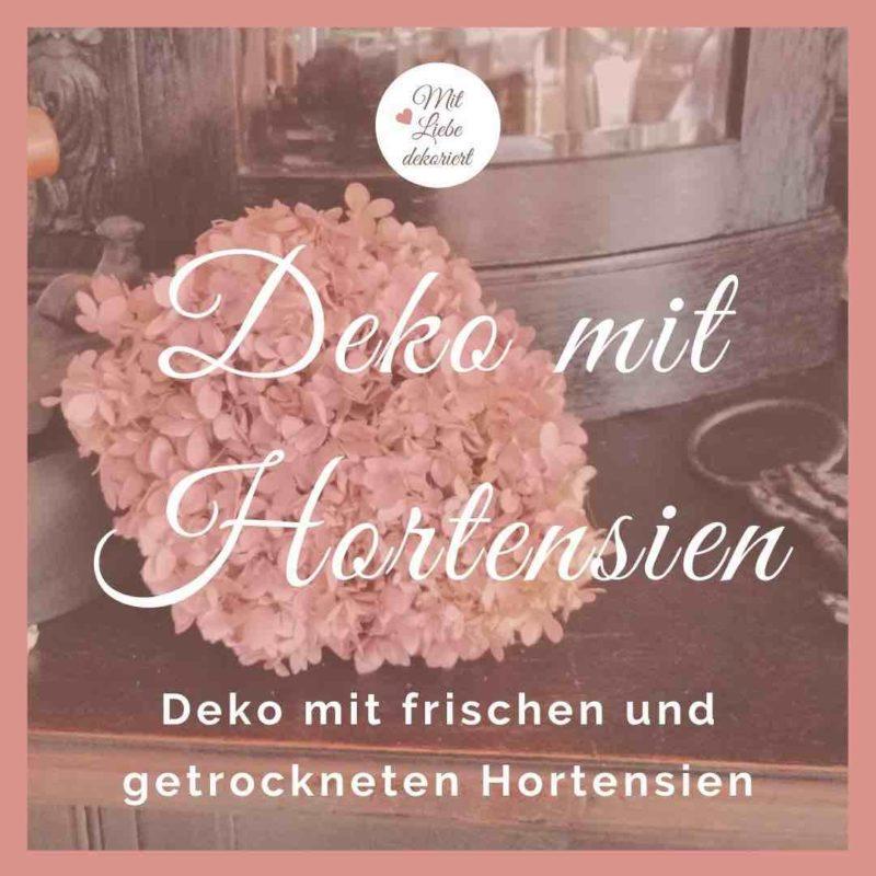 Deko mit Hortensien - Ideen für Haus und Wohnung
