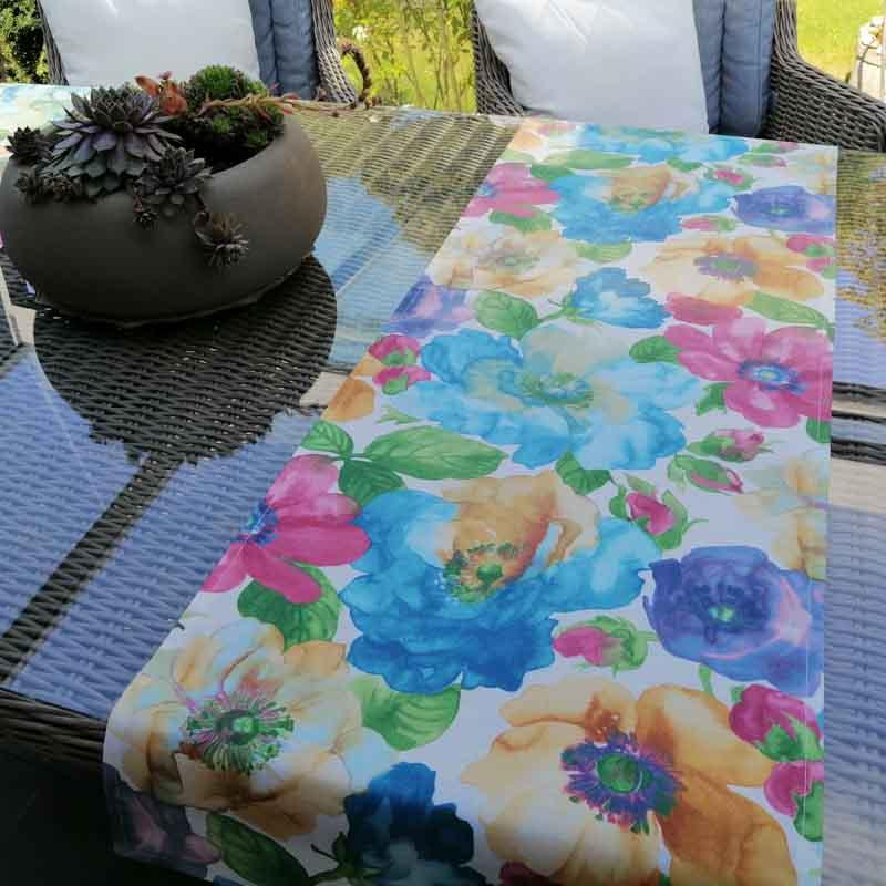 Outdoor Tischläufer aus beschichteter Baumwolle bei Mit Liebe dekoriert