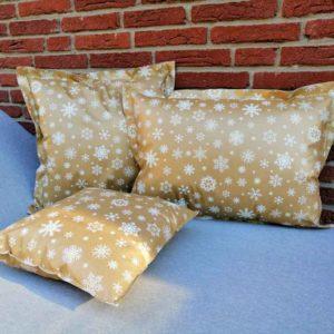 Kissen für draußen - Sterne gold